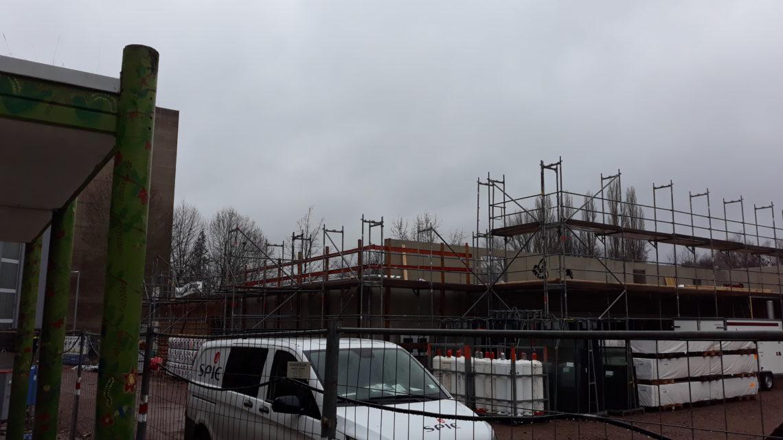 Neues von der Baustelle auf Hof 3